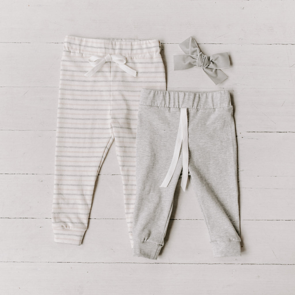 Otis Comfort Leggings - grey (SIZES 00 - 1) - Lupine and Luna