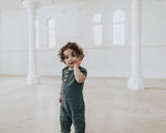 Avery Romper - Teal Linen WAS $90
