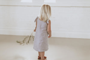 Anais Dress - Silver - Lupine and Luna
