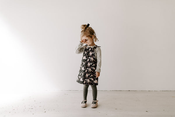 Clover Pinafore - Moody Floral WAS $70