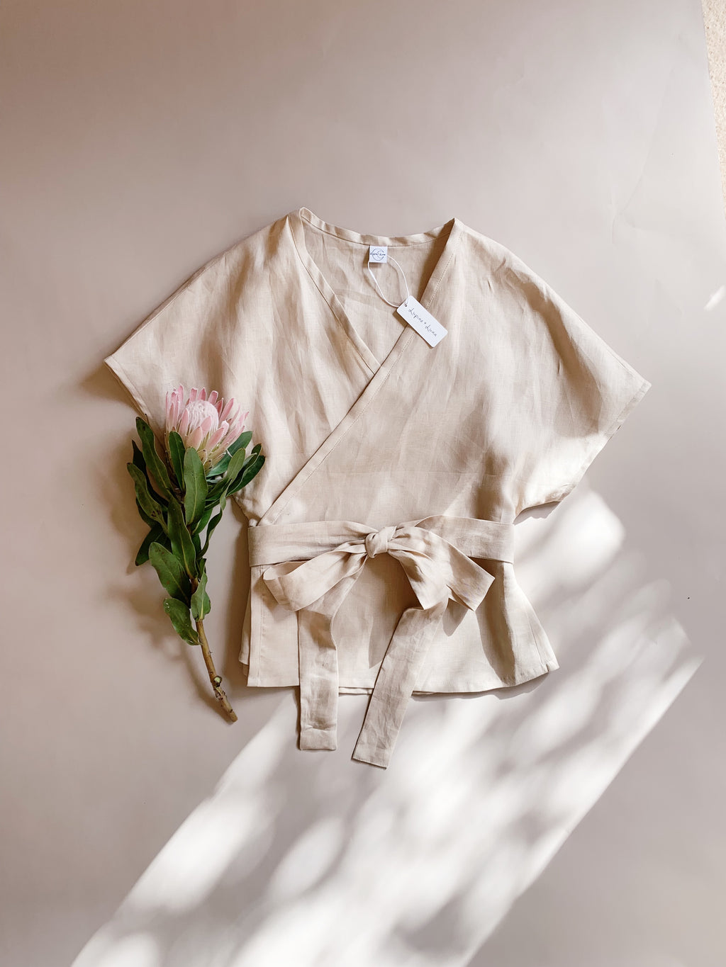 Lucie Blouse - Linen - Lupine and Luna