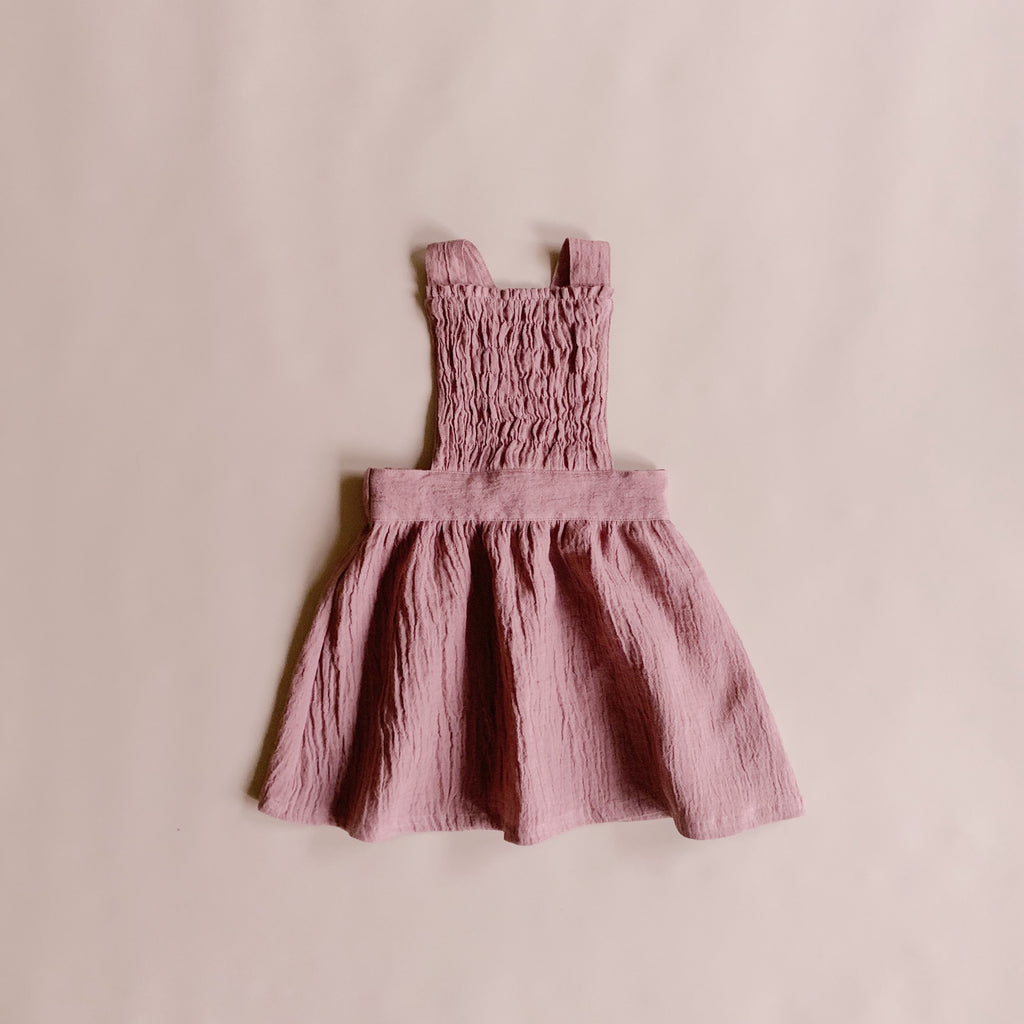 Mae Pinafore - Blush - Lupine and Luna