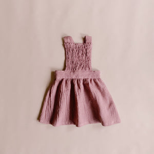 Mae Pinafore - Blush (size 5) - Lupine and Luna