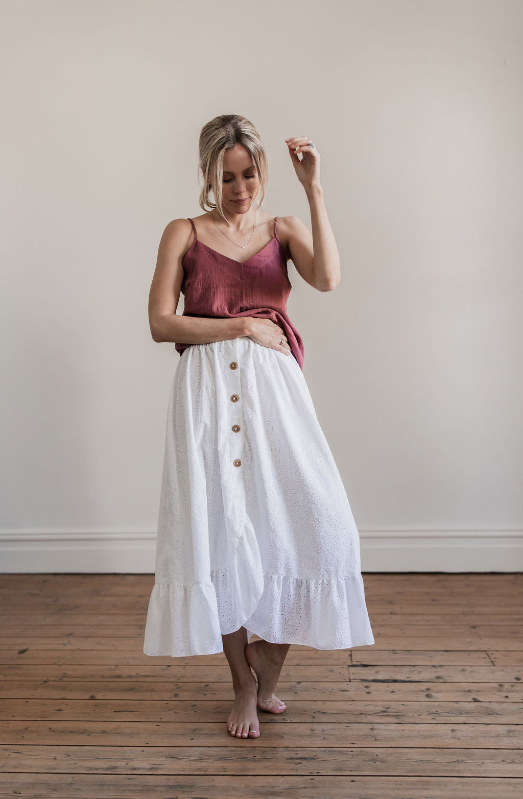 Anglaise Skirt White - Made to Order - Lupine and Luna