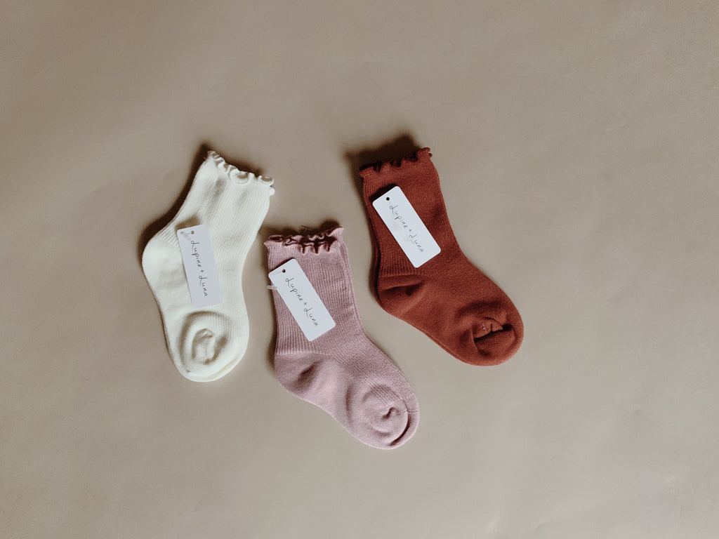 Cotton socks - Rust - Lupine and Luna
