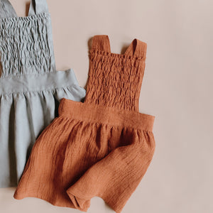 Mae Pinafore - Rust (size 5yrs) - Lupine and Luna