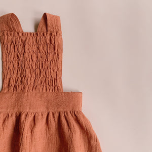 Mae Pinafore - Rust (sizes 1, 4, 5 & 6yrs) - Lupine and Luna