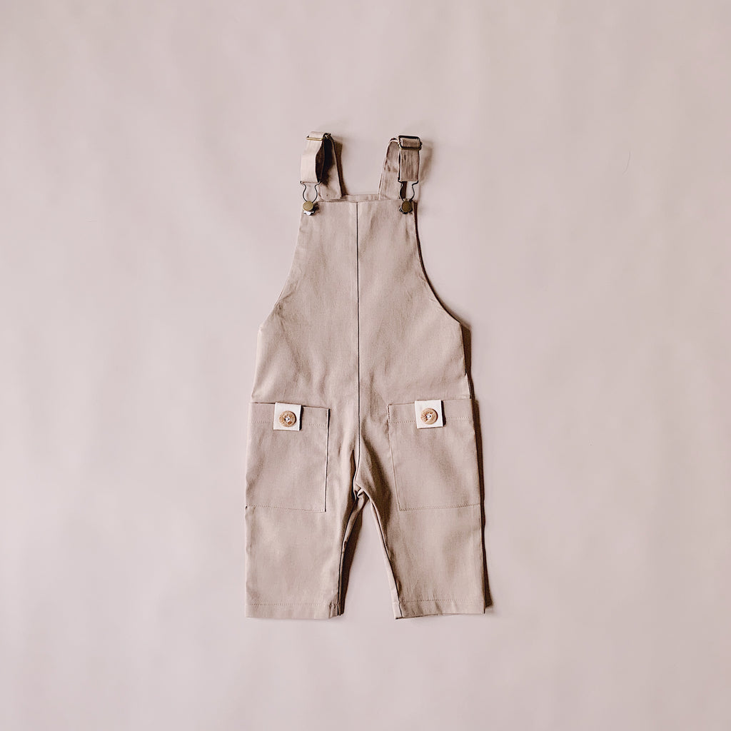 Charlie Overalls - Latte (Sizes 0,1 & 4yr) - Lupine and Luna