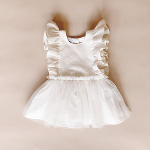 Arabella Dress - Sparkly White - Lupine and Luna