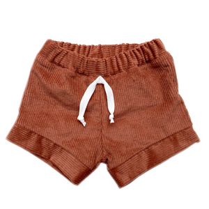 Elwood Corduroy Shorts Rust - Lupine and Luna