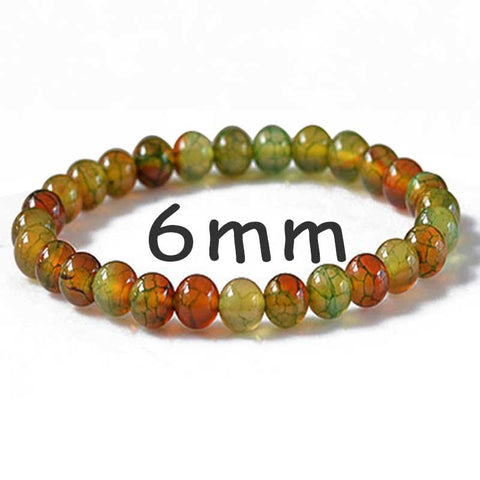 Peacock Dragon Agate Bracelet Charm Men Women DIY Natural Healing Stone Beaded Bracelets Jewelry Wholesale