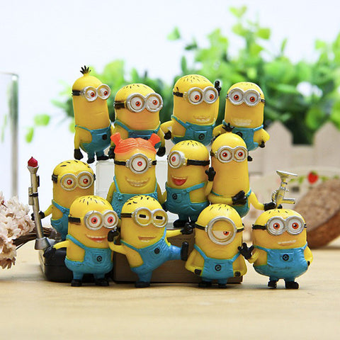 Despicabl Me Minion Action Figures Minions Cosplay PVC Action Figure Toys Anime Figurines Model Toy Gift for Kids