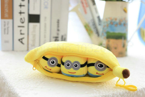 25 cm drop shipping lovely Minions legume plush toys kids toys pillow cushion cloth doll boy and girl birthday gift big pendant