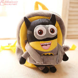 25*19*9cm Kawaii Minions Doll Plush Backpacks Stuffed plush Cartoon Totoro baby plush schoolbag