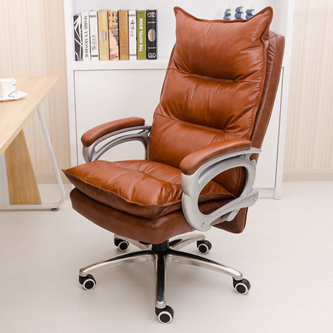 Genuine leather Luxurious and comfortable Home office chair Adjustable height Ergonomic boss seat Furniture swivel chair