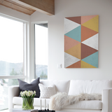 Painting Geometric Colors Canvas