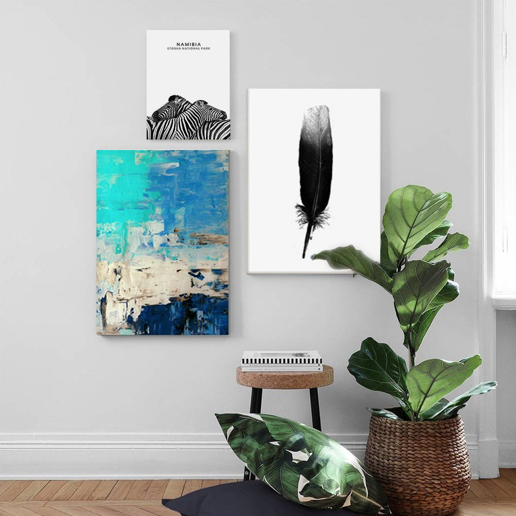 Set of 3 canvas prints - Across the sea