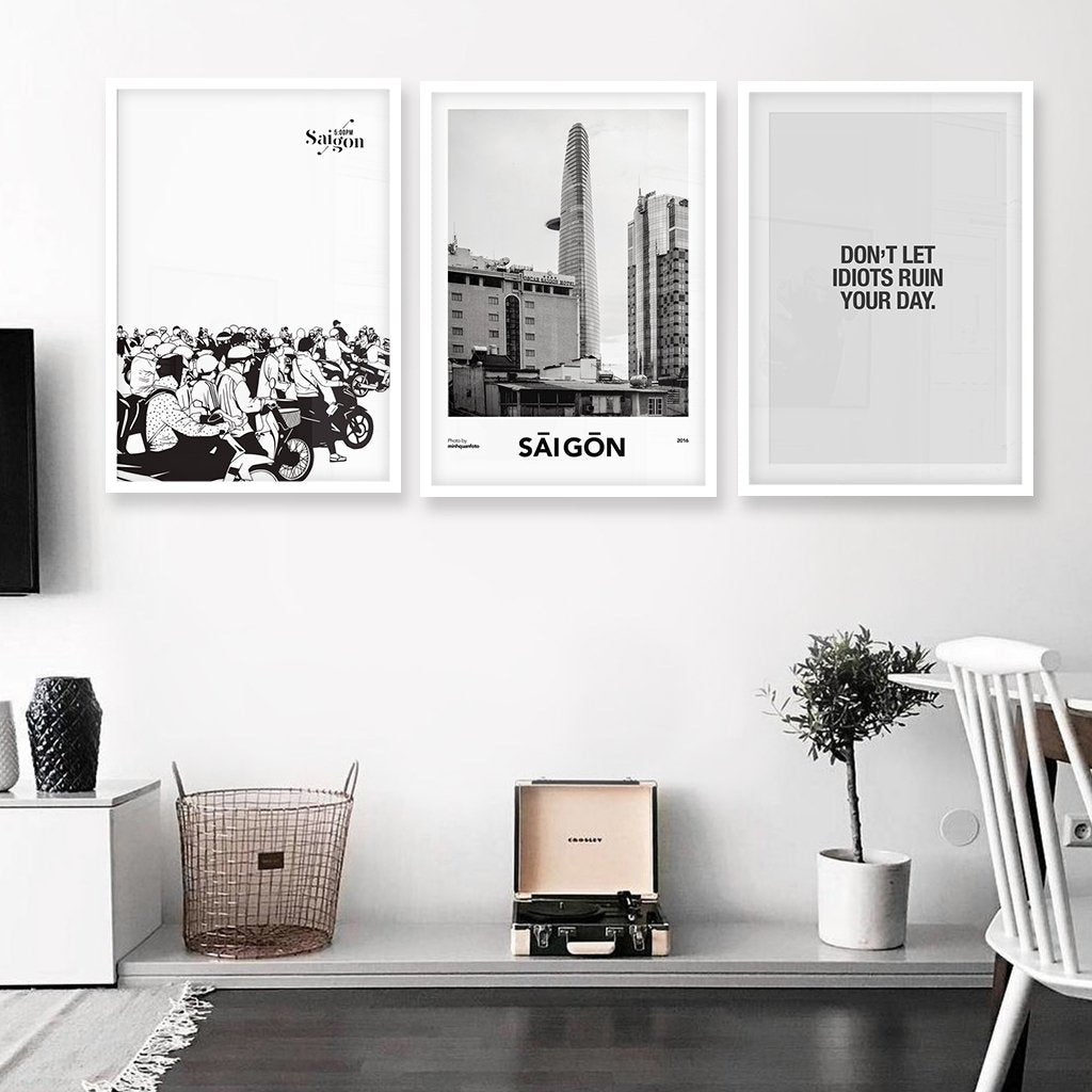 Set of 3 art prints - A day in Saigon