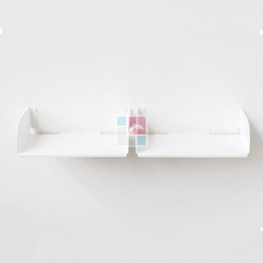 Set of 2 D-shaped Wall Bookshelves