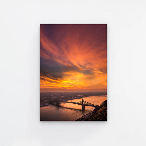 Orange Dawn Canvas
