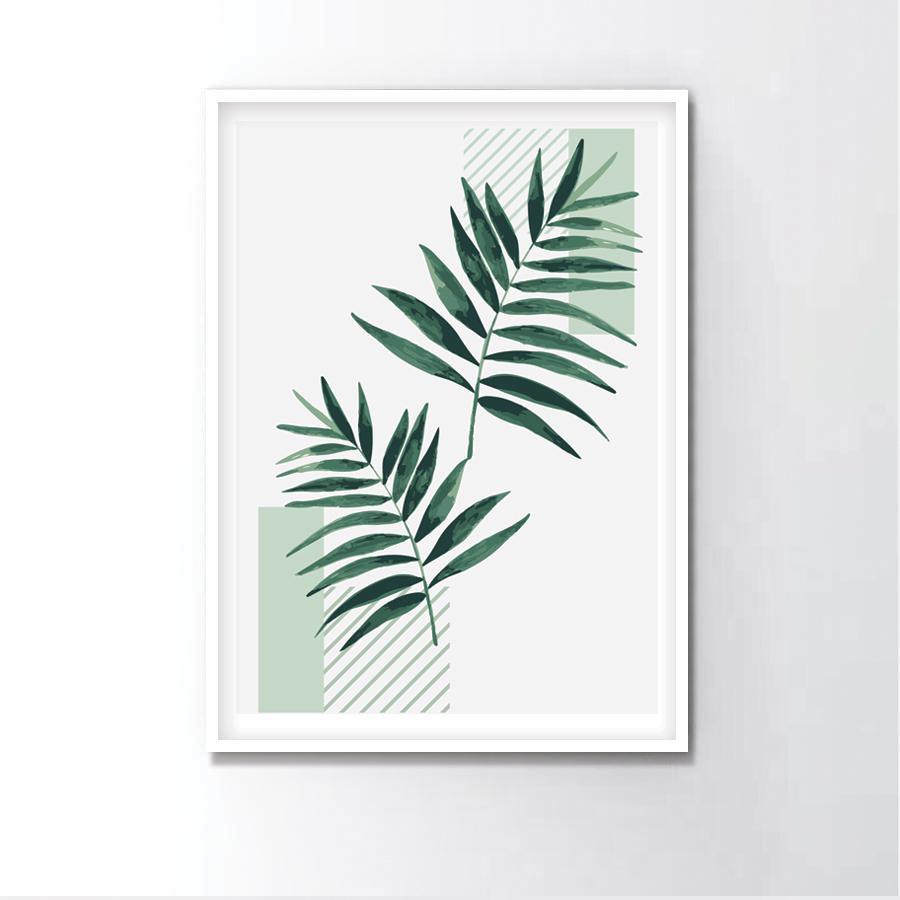 Watercolor Parlor Palm Frame