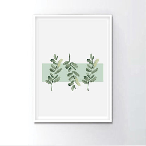 Watercolor Fern Leaf Frame
