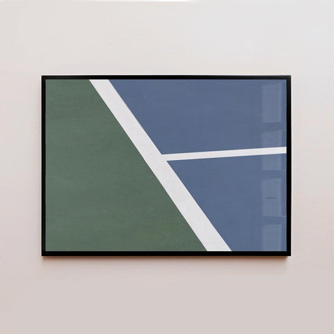 Horizontal Abstract Blue & Green Frame