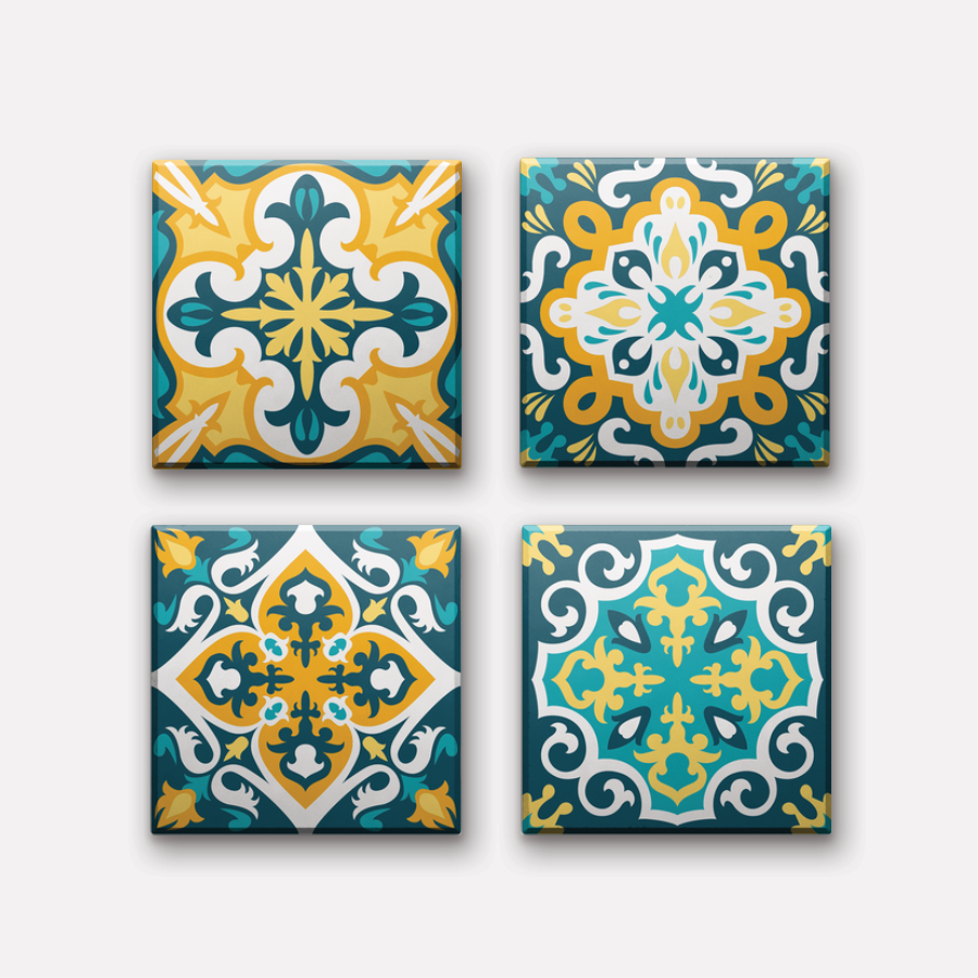 Set of 4 - Hoi An Retro Ceramic Coaster