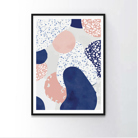 Pink and Blue Terrazzo Frame
