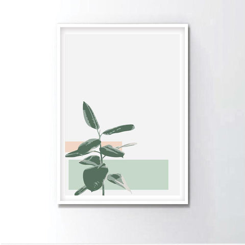 Watercolor Indigo Plant Leaves Frame