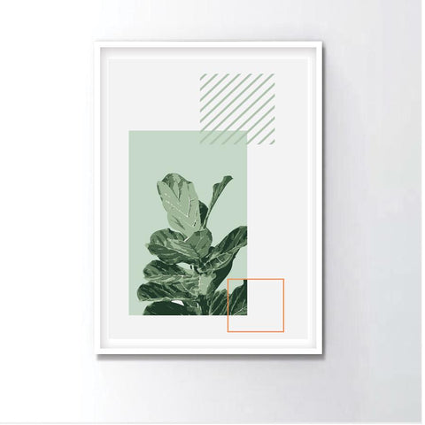 Watercolor Fiddle Leaf Figs Frame