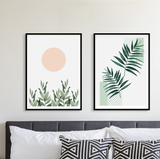 Watercolor Plants Frame