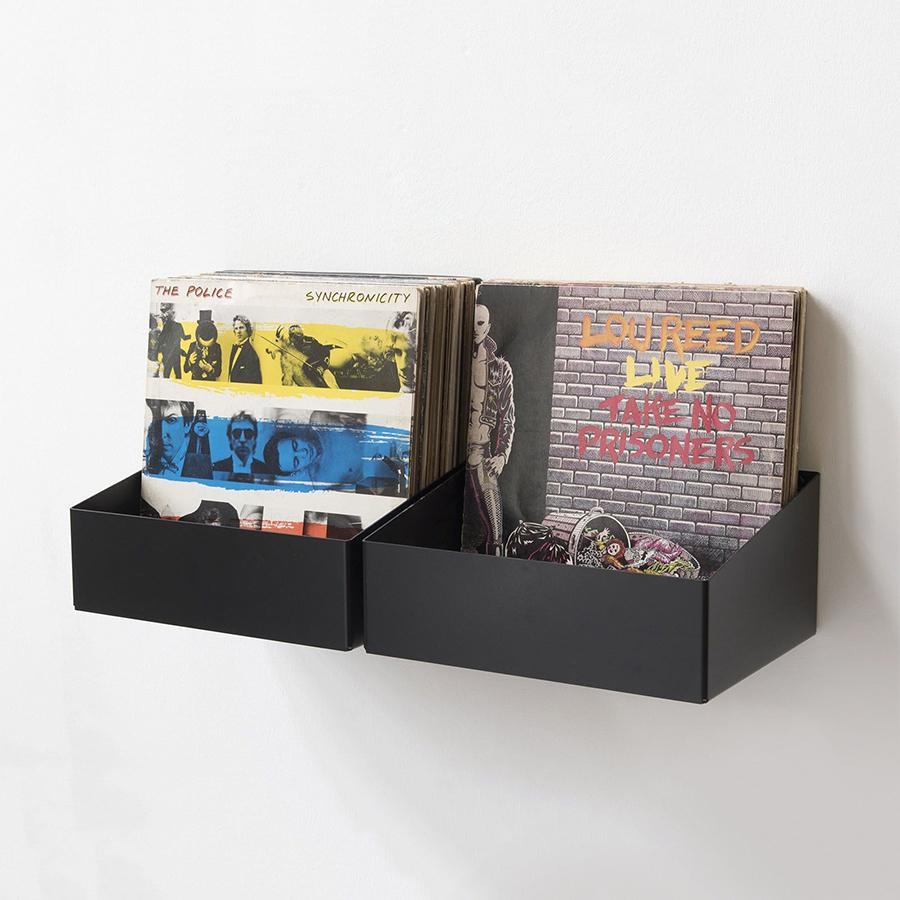 Set of 2 vinyl storage Shelves