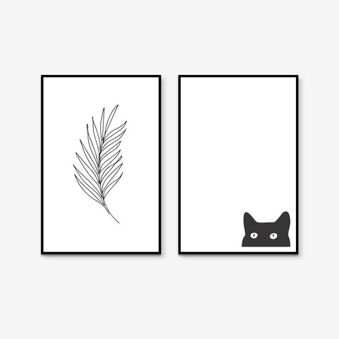 Peeping - Set of 2 art prints
