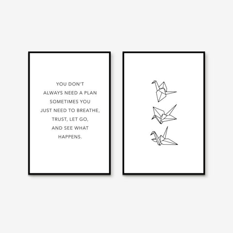 Zen Thought - Set of 2 art prints