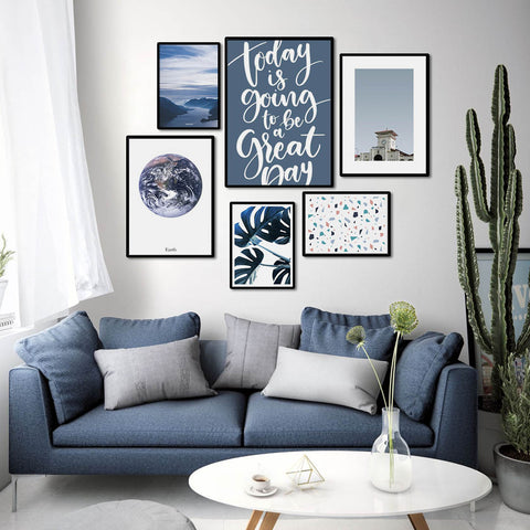 BLUE - Set of multiple art prints