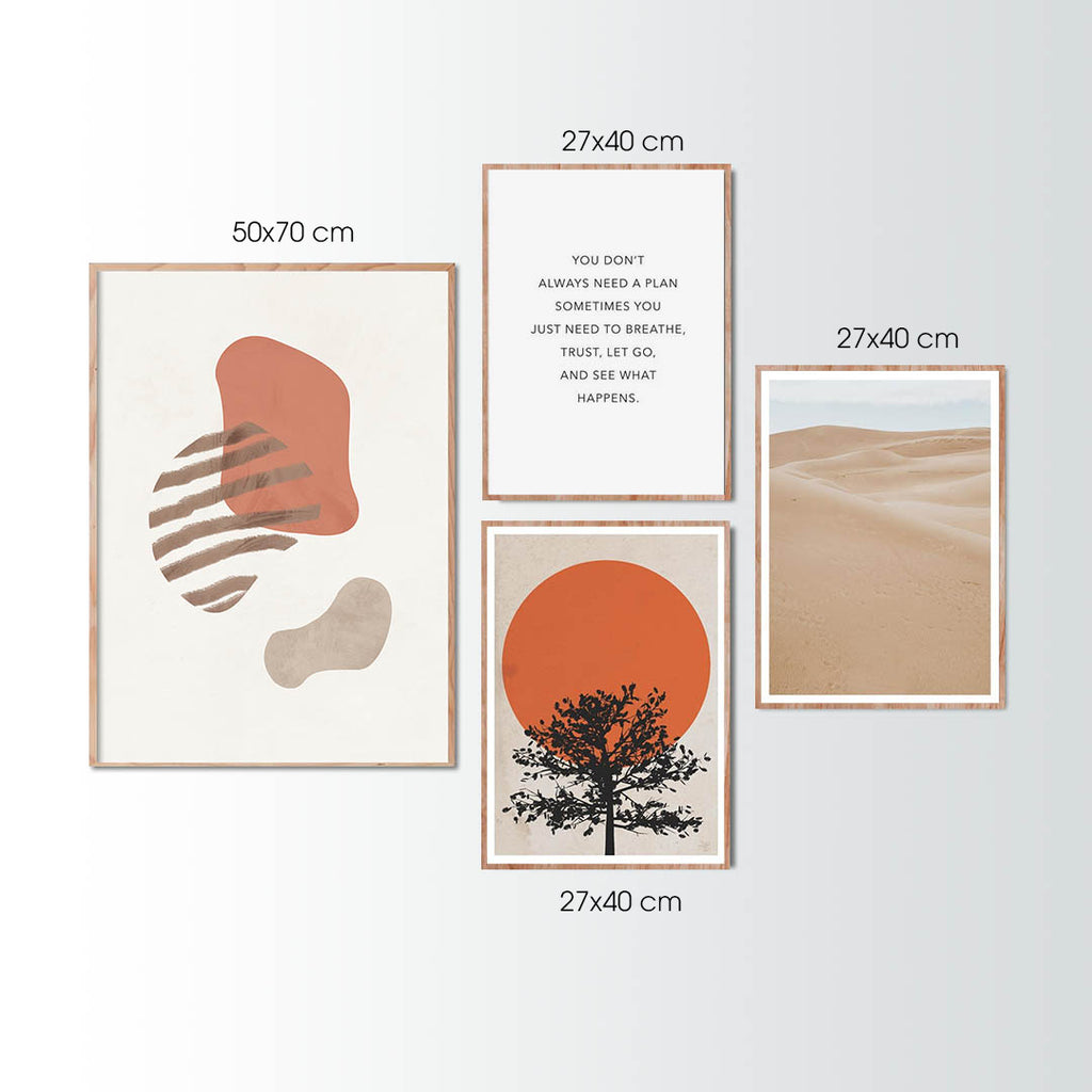 EARTHY BLUSH - Set of multiple art prints
