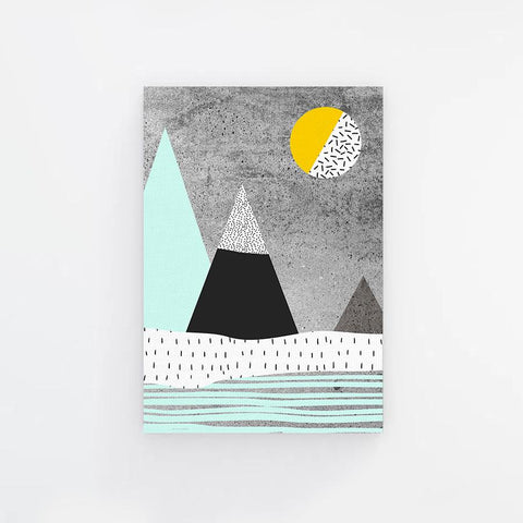 Light Blue Mountain Vector Canvas