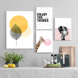 Set of multiple canvas prints - Enjoy your day