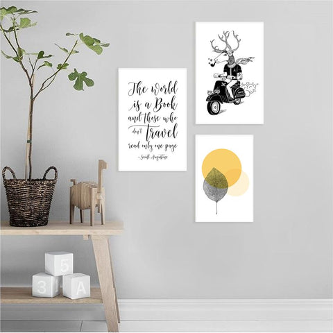 Set of 3 canvas prints - On The Road