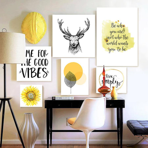 Set of multiple canvas prints - Summer Vibe