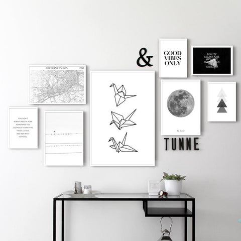 Simple Black and White - Set of multiple art prints