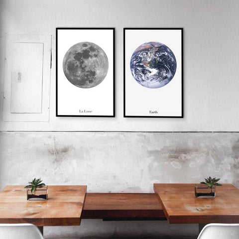 To The Moon And Back - Set of 2 art prints