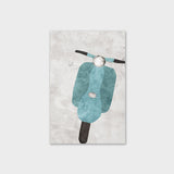 Vespa in Blue Canvas Print