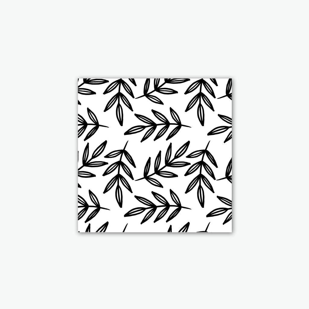 Black and White Leaves Canvas