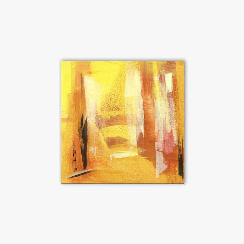 Yellow Abstract Canvas