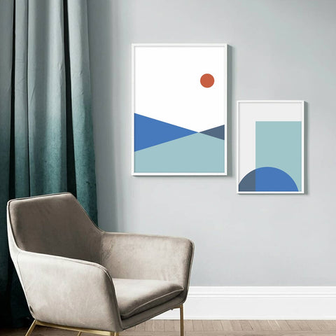 Abstract Sun - Set of multiple art prints