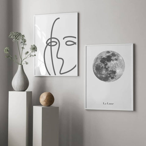 Face of the Moon - Set of multiple art prints