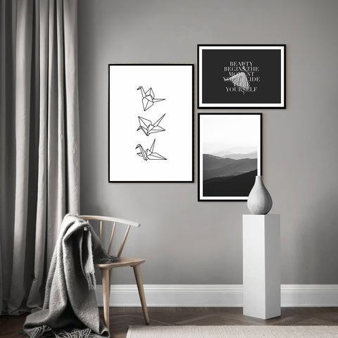 Beauty in Black and White - Set of multiple art prints