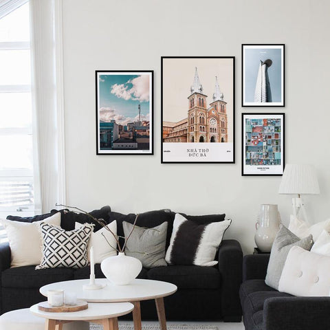 Set of multiple art prints - Saigon Monuments